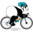 Cycling Panda by grumpyteds