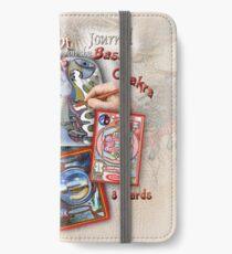 The Language of Light Doodle Symbols on the Base Chakra iPhone Wallet/Case/Skin