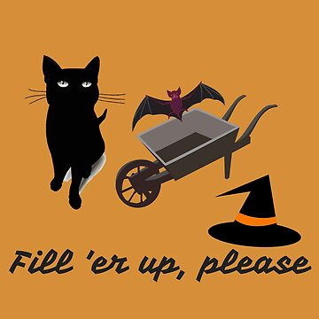 Black Halloween cat trick or treating by DAscroft