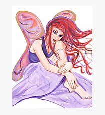 Lavender Fairy with Red Hair  Photographic Print
