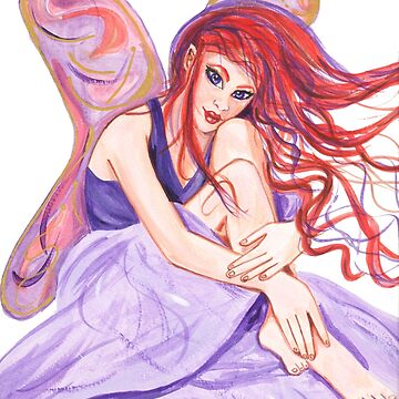Lavender Fairy with Red Hair  by MonicaArtist