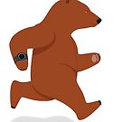 Running Grizzly Bear - Brown Bear by grumpyteds