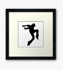 Hip Hop Black Framed Print