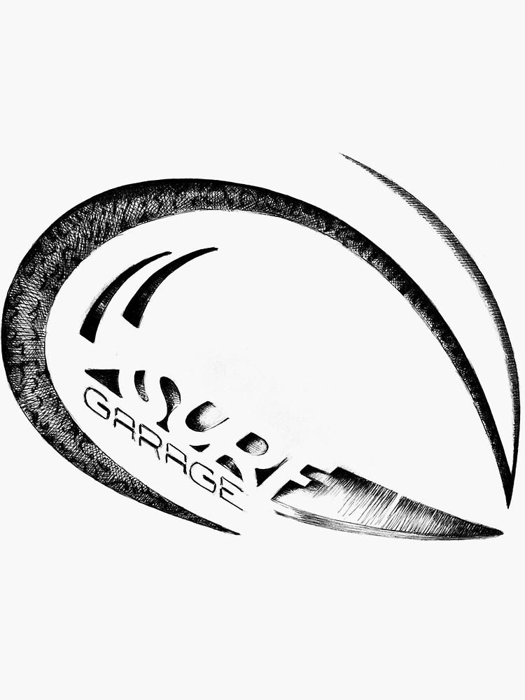 Surf Garage Wave 2 Sticker By Surfgaragebrand
