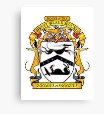 Greyhound Heraldry: Greyt Black Hound Canvas Print