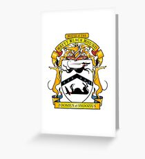 Greyhound Heraldry: Greyt Black Hound Greeting Card