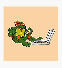 TMNT - Michelangelo with Pizza Photographic Print