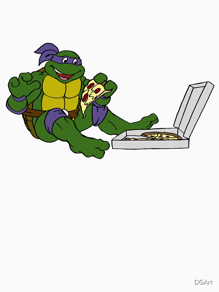 TMNT - Donatello with Pizza by DGArt