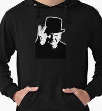 V sign, Victory, V, 1943, WWII, Winston, Churchill, British prime minister,  Lightweight Hoodie