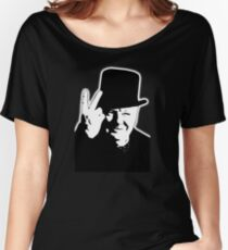 V sign, Victory, V, 1943, WWII, Winston, Churchill, British prime minister,  Women's Relaxed Fit T-Shirt