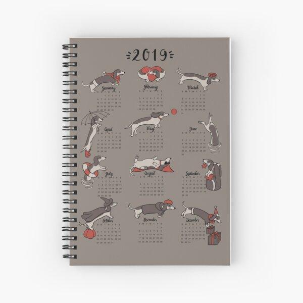 Dackeljahr - Kalender Spiralblock