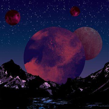 New dark planet in galaxy by Melcu