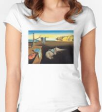 DALI, Salvador Dali, The Persistence of Memory, 1931 Women's Fitted Scoop T-Shirt
