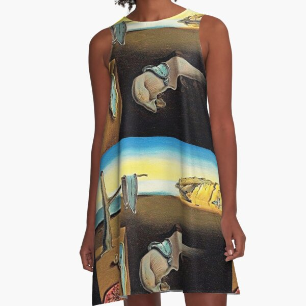 DALI, Salvador Dali, The Persistence of Memory, 1931. A-Line Dress