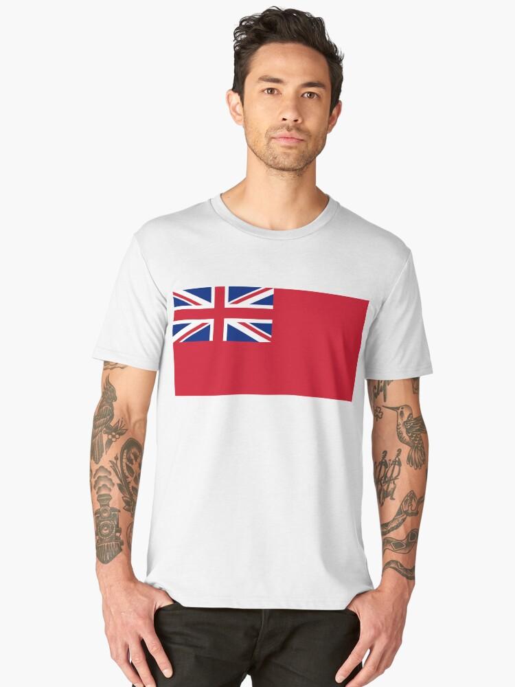 Red Ensign, NAVY, Merchant Navy, Flag, Red Duster, Royal Navy Flag,  Men's Premium T-Shirt Front