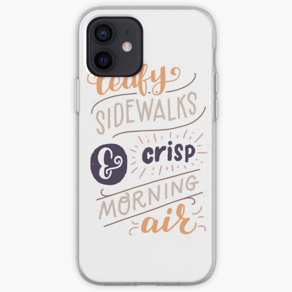Leafy Sidewalks & Crisp Morning Air iPhone Soft Case