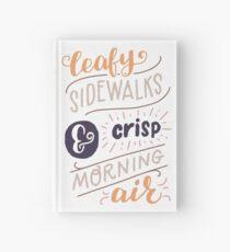 Leafy Sidewalks & Crisp Morning Air Hardcover Journal