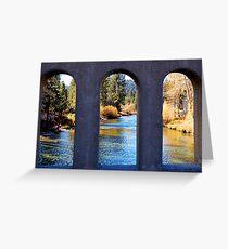 River Through Arches Greeting Card