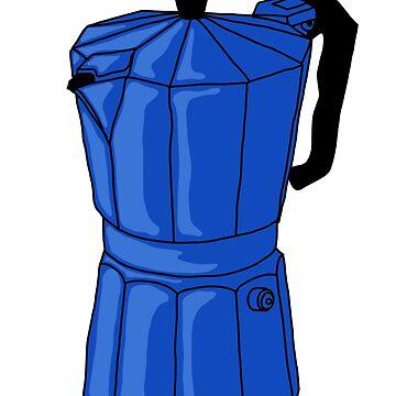 Espresso Pot - Blue by MOREDANKMEMES