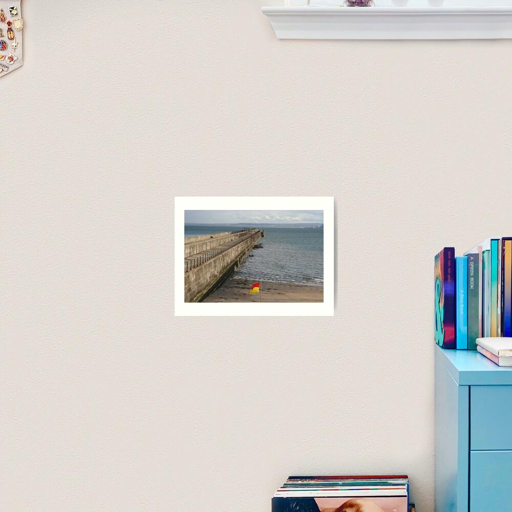 Hartlepool Breakwater Art Print