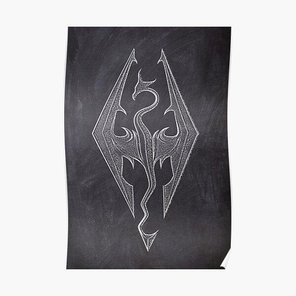 Chalk Dragon Spiritit Poster