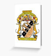 Greyhound Heraldry: Greyt Brindle Hound Greeting Card