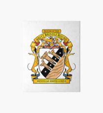 Greyhound Heraldry: Greyt Brindle Hound Art Board