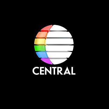 Central TV television 1980s retro logo 3D render  by unloveablesteve