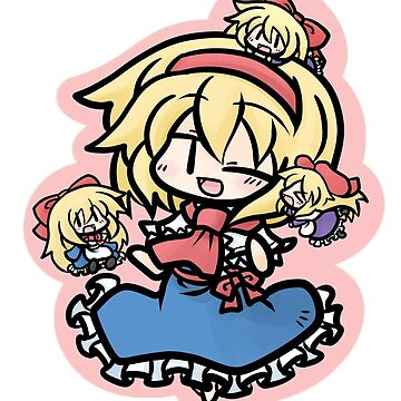 Alice Margatroid and her dolls by MagicalFish