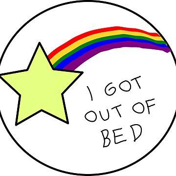 Adult Reward Sticker - I Got Out Of Bed by lauren-w