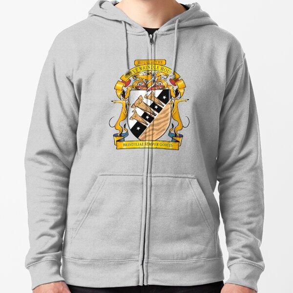 Greyhound Heraldry: Greyt Brindle Hound Zipped Hoodie