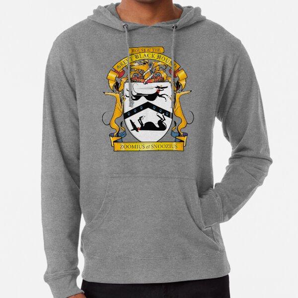 Greyhound Heraldry: Greyt Black Hound Lightweight Hoodie
