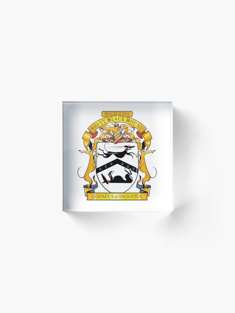 Alternate view of Greyhound Heraldry: Greyt Black Hound Acrylic Block