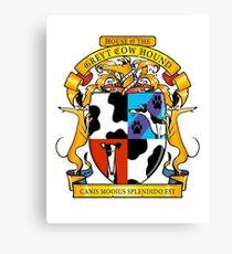 Greyhound Heraldry: Greyt Cow Hound Canvas Print