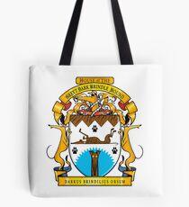 Greyhound Heraldry: Greyt Dark Brindle Hound Tote Bag