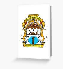Greyhound Heraldry: Greyt Dark Brindle Hound Greeting Card