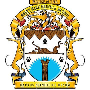 Greyhound Heraldry: Greyt Dark Brindle Hound by RichSkipworth
