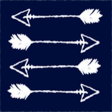 Shibori indigo arrows by hellcom