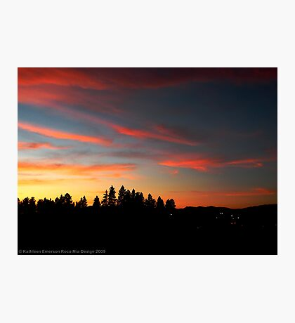 Big Sky Country Evening Photographic Print