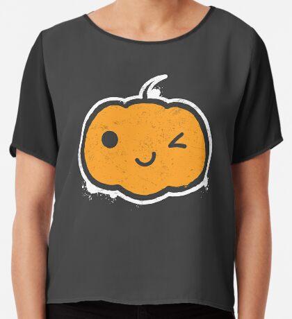 Cool Halloween Pumpkin Women's Chiffon Top