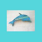 Turquoise Wood Dolphin by Teresa Schultz