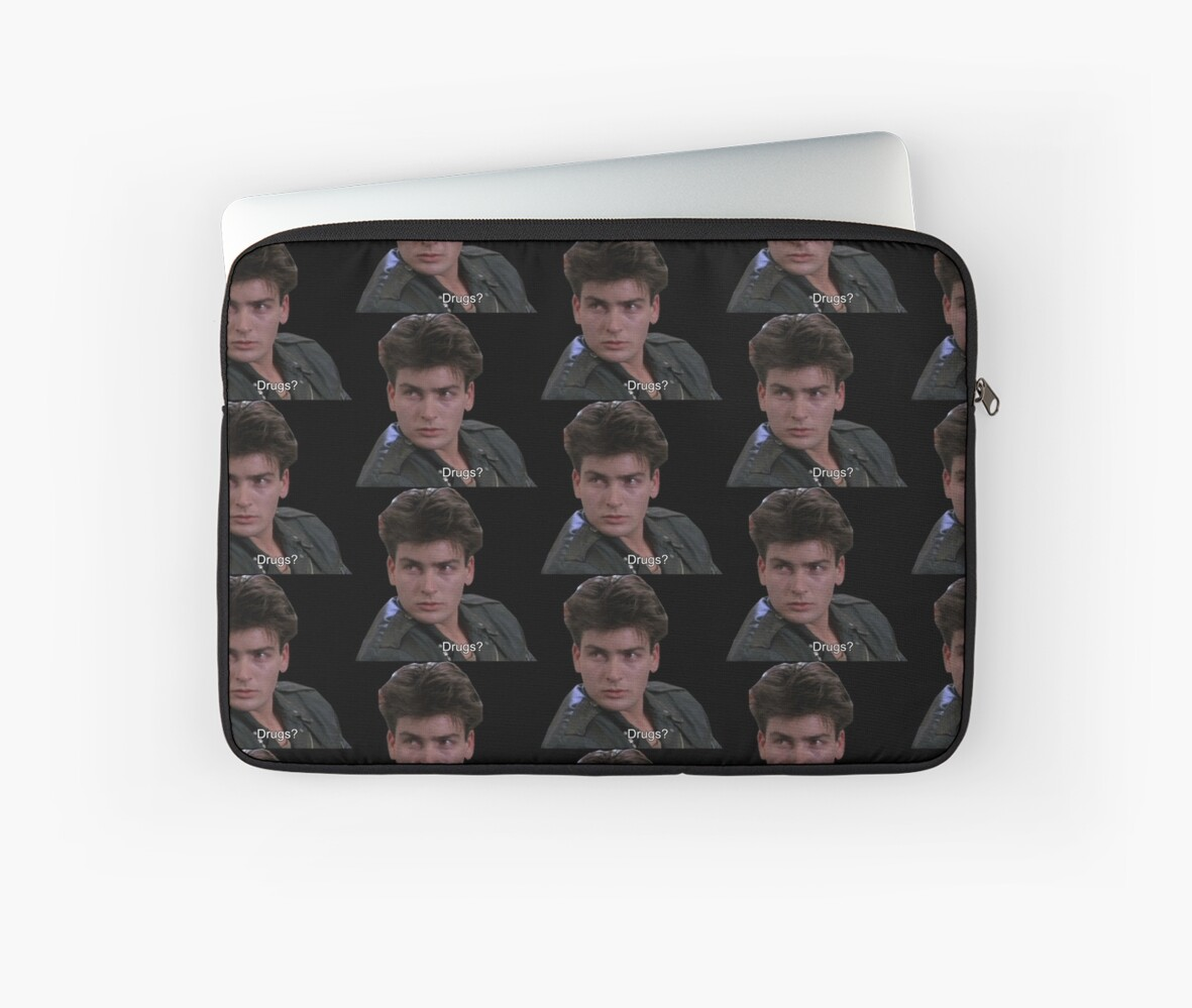 'ferris bueller\'s day off quote - drugs?' Laptop Sleeve by electricgal
