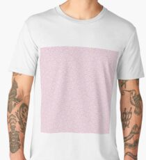 Small Floral Pattern of Cream Flowers on Pink Men's Premium T-Shirt