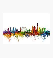 Lámina fotográfica Londres Inglaterra Skyline