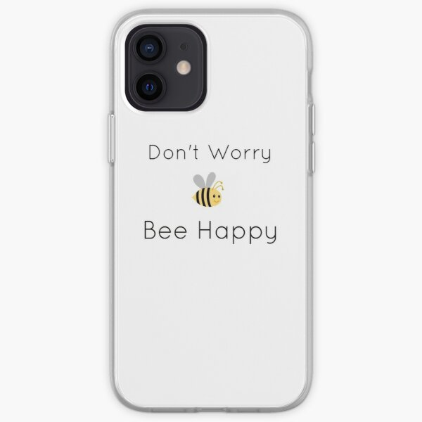 Don't Worry Bee Happy Design iPhone Soft Case
