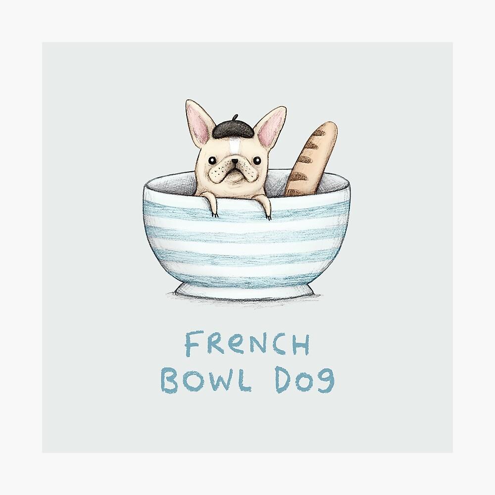 Perro francés Bowl Lámina fotográfica