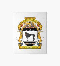 Greyhound Heraldry: Greyt Snowflake Hound Art Board