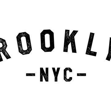 BROOKLYN NYC STAMPED LETTERING by SUBGIRL