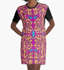 Psychedelic Flourishes I Graphic T-Shirt Dress