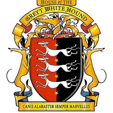 Greyhound Heraldry: Greyt White Hound by RichSkipworth